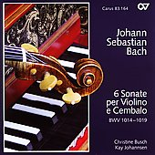 Bach: Sonatas for Violin and Cembalo / Busch, Johannsen