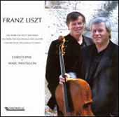 Liszt: Works for Cello & Piano - Consolations; Elegies; Oubli&eacute;e et al. / Christophe Pantillon, cello; Marc Pantillon, piano