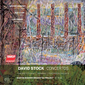 David Stock (1939-2015): Concierto Cubano; Oborama; Percussion Concerto / Andrés Cárdenes, violin; Alex Klein, oboes; Lisa Pegher, percussion; Boston Modern Orchestra Project; Gil Rose