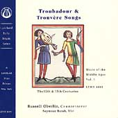 Music of the Middle Ages Vol 1 - Troubadour & Trouvère Songs