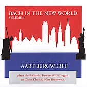 Bach in the New World Vol 1 / Aart Bergwerff
