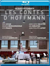 Offenbach: The Tales of Hoffmann / Eric Cutler, Anne Sofie Von Otter, Vito Priante, Christoph Homberger, Ana Durlovski, Measha Brueggergosman. Teatro Real de Madrid Orch. & Chorus, Cambreling [Blu-ray]