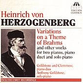 Herzogenberg: Variations on a Theme of Brahms / Goldstone