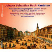 Bach: Cantatas BWV 215 & 195 / Barbara Schlick, Klaus Haffke, Paul Elliott, Stephen Varcoe