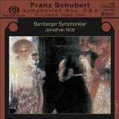 Schubert: Symphonies no 2 & 4 / Nott, Bamberg SO
