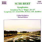 Schubert: Symphony no 4, etc / Halász, Failoni CO