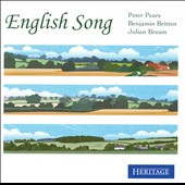 English Song - works by  Morley, Rosseter, Dowland, Pilkington, Bridge, Butterworth, Ireland, Warlock, et al. / Peter Pears, tenor; Julian Bream, guitar; Benjamin Britten, piano