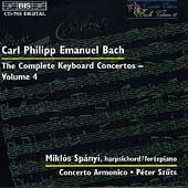 C.P.E. Bach: Complete Keyboard Concertos Vol 4 / Sp&#225;nyi