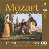 Mozart: Piano Concertos, Vol. 2 - Concertos for Piano K.271 & K.413 / Christian Zacharias, piano