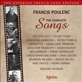 Poulenc: The Complete Songs / Felicity Lott, Ailish Tynan, Sarah Fox, Susan Bickley, Ben Johnson et al. Graham Johnson, piano  [4 CDs]