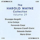 The Harold Wayne Collection Vol 29 / Borgatti, Calleja, etc