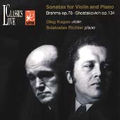 Brahms, Shostakovich:  Violin Sonatas / Kagan, Richter