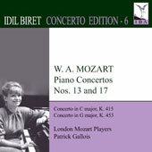 Idil Biret Concerto Edition, Vol. 6: Mozart: Piano Concertos Nos. 13 and 17 / Idil Biret, piano; London Mozart Players, Gallois