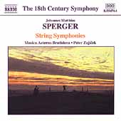 The 18th Century Symphony - Sperger: String Symphonies