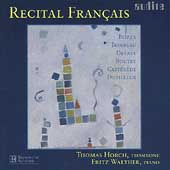 Recital Fran&#231;ais - Bozza, etc / Thomas Horch, Fritz Walther