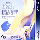 Bach: Brandenburg Concertos no 1-4 / Diego Fasolis, et al
