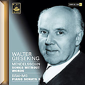 Mendelssohn: Songs Without Words;  Brahms / Gieseking