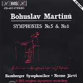 Martinu: Symphonies nos 5 & 6 / J&#228;rvi, Bamberg Sym Orch