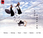 Duo Harpian play works for harp & piano by Rameau, Debussy, Ravel, Fauré, Salzedo and De Falla