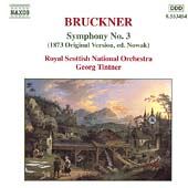 Bruckner: Symphony no 3 / Tintner, Royal Scottish NO