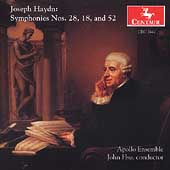 Haydn: Symphonies no 28, 18 and 52 / Hsu, Apollo Ensemble