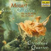 Mozart: String Quartets no 14, no 15 / Cleveland Quartet
