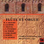Fl&#251;te et Orgue - Mozart, Franck, et al /Delafontaine, Jordan