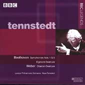 Beethoven: Symphonies no 1 & 5, etc; Weber/Tennstedt