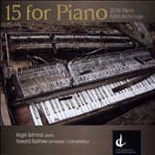 Howard Bashaw (b.1957): 15 for Piano; Form Archimage / Roger Admiral, piano