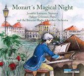 Mozart's Magical Night - Author Kim Maerkl's story of a seven year old Mozart strolling the Nymphenburg Palace gardens in Munich with a young companion / Jennifer Larmore, narrator; Helene Grimaud, piano