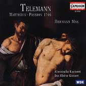 Telemann: Matth&#228;us-Passion / Hermann Max, et al