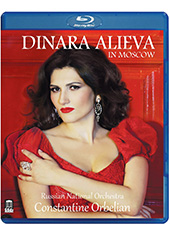 Dinara Alieva in Moscow - Works by Puccini, Cilea, Offenbach, Lehár, Strauss et al. / Dinara Alieva, soprano; Russian Nat'l Orchestra; Orbelian [Blu-Ray]