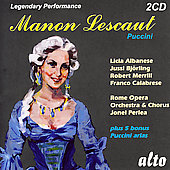 Puccini: Manon Lescaut / Perlea, Bj&ouml;rling, Albanese, et al