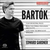 Bartok: Four 4 Orchestral Pieces; Music for Strings, Percussion and Celesta; Suite from The Miraculous Mandarin / Gardner