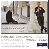 Works and Duos for Clarinet and Bassoon by Poulenc, Bozza, Stravinsky, Malcolm Arnold, Piazolla / Massimo Martusciello, Gennaro Spezza