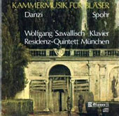 Danzi, Spohr: Chamber Music for Winds / Wolfgang Sawallisch, piano; Residenz-Quintett Munich