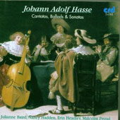 Hasse: Cantatas, Ballads and Sonatas / Baird, Hadden, et al