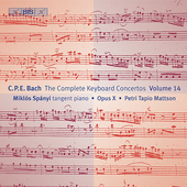 C.P.E. Bach: Complete Keyboard Concertos Vol 14 / Sp&#225;nyi