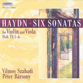 Haydn: Six Sonatas for Violin and Viola / Szabady, B&#225;rsony