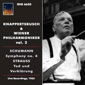 Schumann: Symphony no 4; R. Strauss: Death & Transfiguration / Knappertsbush, Vienna PO