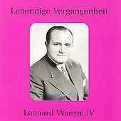 Lebendige Vergangenheit - Leonard Warren Vol 4