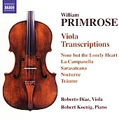 Primrose Viola Transcriptions / D&iacute;az, Koenig