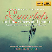 Brahms: Quartets for Four Voices /  Bernius, Rothkopf, et al