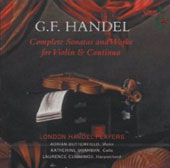 Handel: Complete Sonatas for Violin & Continuo / Butterfield, Sharman, Cummings