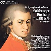 Mozart: Salzburg Church Music 1774 / Neumann, Zedelius