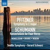 Schumann: Symphony in C; Konzertstuck for four Horns; 2 Symphonic Etudes; Pfitzner: Symphony in C et al. / Gerard Schwarz