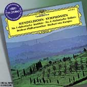 Mendelssohn: Symphonies 3 & 4, etc / Karajan, Berlin PO