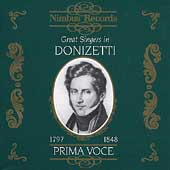 Prima Voce - Great Singers in Donizetti