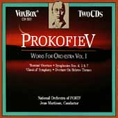 Prokofiev: Works for Orchestra Vol I / Jean Martinon