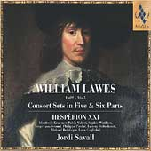 Lawes: Consort Sets in Five & Six Parts / Savall, Hespèrion